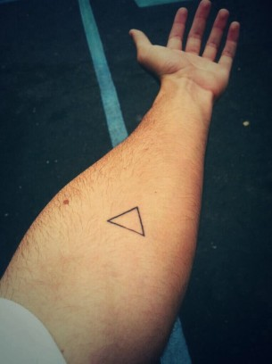 Black triangle tattoo