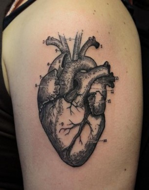 Anatomical Heart Sleeve Tattoo