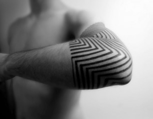 Awesome Elbow Black Pattern Tattoo