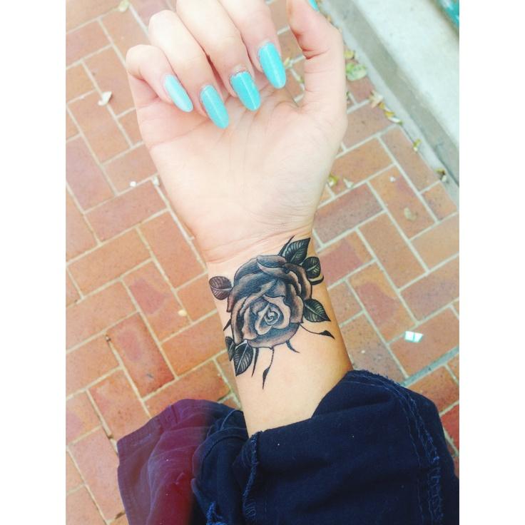 Black And Grey Rose Tattoo