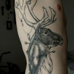 Deer Side Tattoo By Sam Ruiz