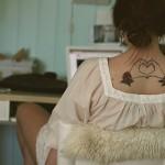 Heart Back Tattoo