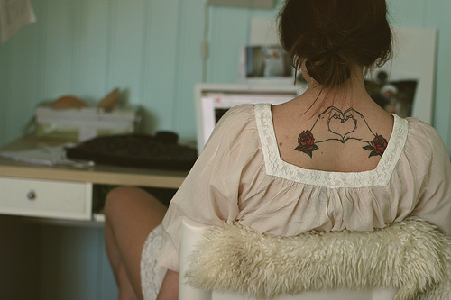 Heart Back Tattoo