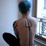 Trident Tattoo On Back