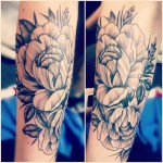 Floral Inner Arm Tattoo