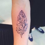 Geometric Inner Arm Tattoo