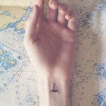 Minimal Ship Tattoo On Wrist