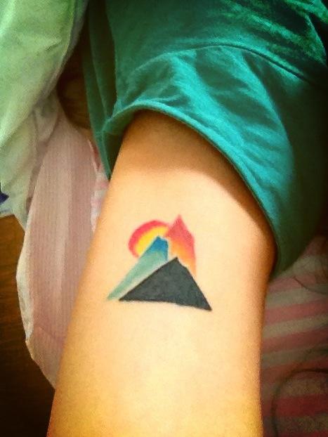 Tribal Mountain Tattoo Mountain Tattoo