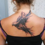 Pigeon Back Tattoo