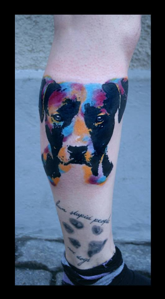 pop art terrier tattoo best tattoo ideas designs. Black Bedroom Furniture Sets. Home Design Ideas
