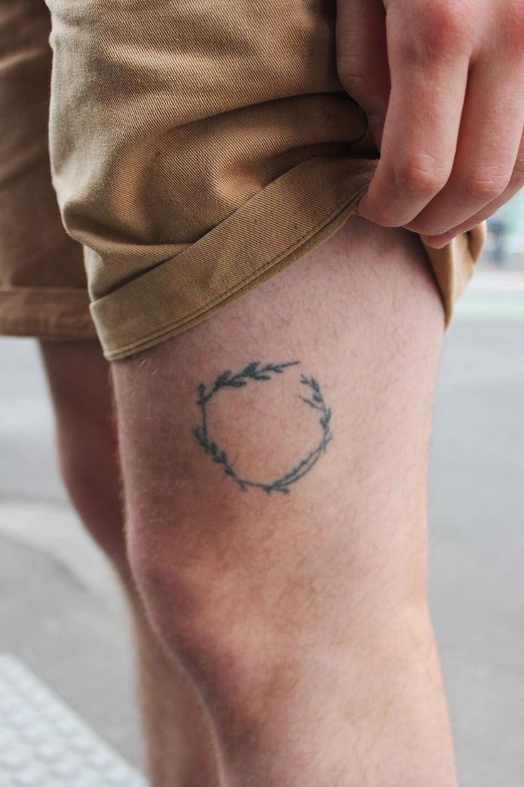 Small Tattoo On Leg