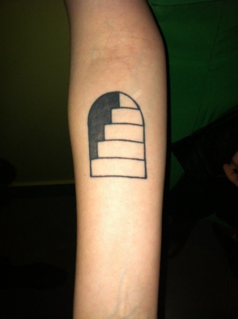 Stairs Arm Tattoo