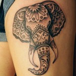 Stylized Elephant Tattoo