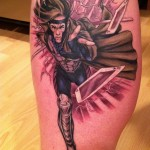 X-Men Gambit Tattoo By Matt Lukesh