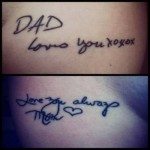 Dad And Mom Love Tattoo