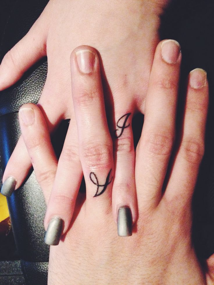On pinterest finger tats hand tattoos and fingers for Ring finger tattoos