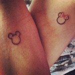 Mickey And Minnie Cute Tattoo
