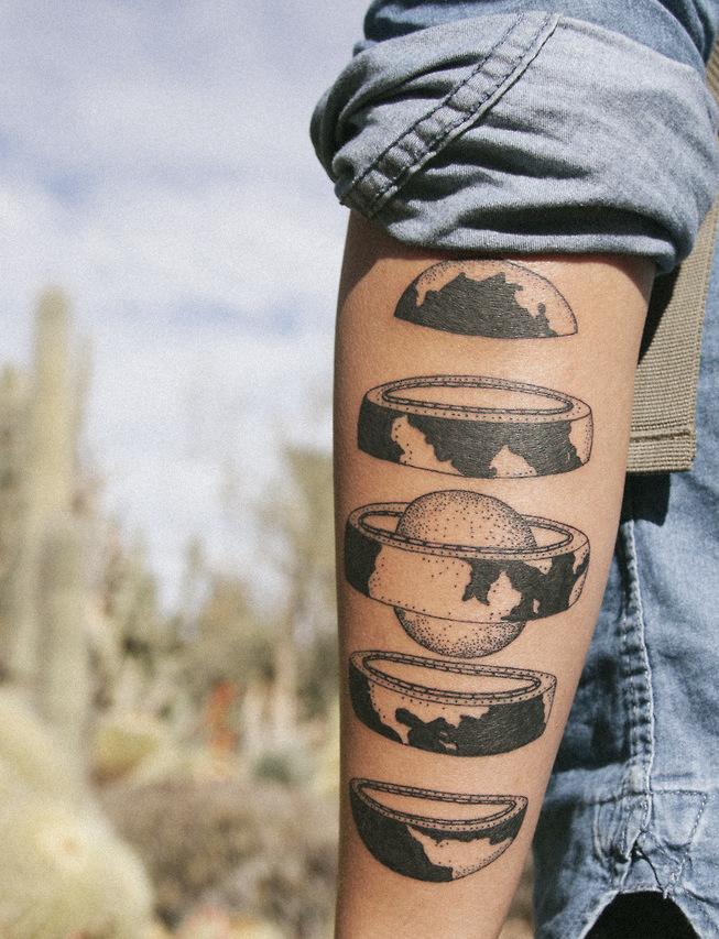 Sliced Earth Tattoo