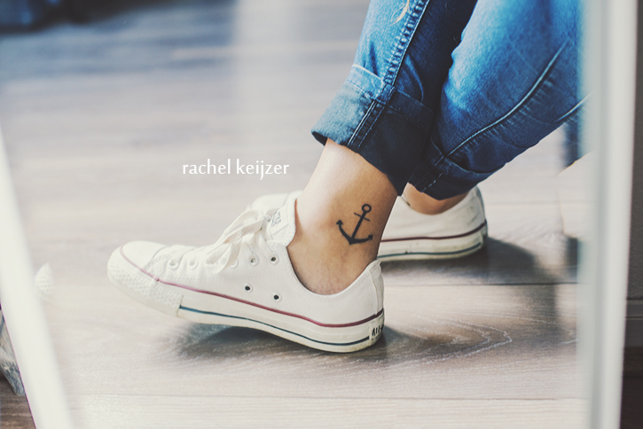 Anchor Ankle Tattoo