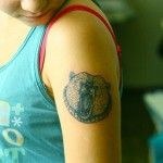 Bear Shoulder Tattoo