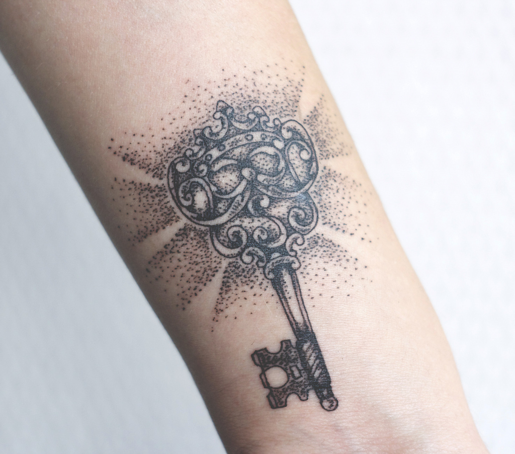 Little Key Arm Tattoo