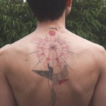 Lotus Composition Back Tattoo