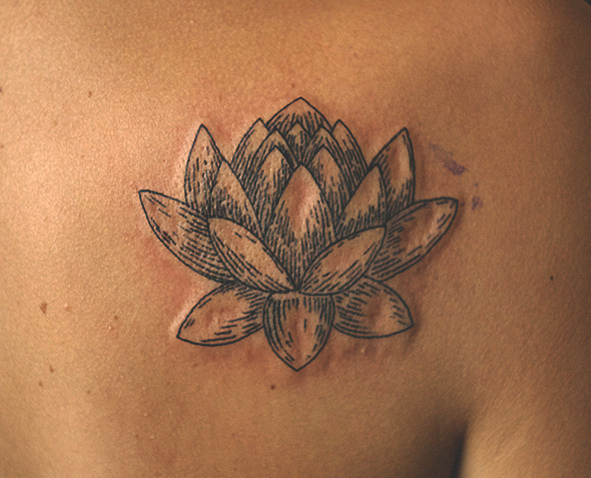Lotus On Shoulder Blade