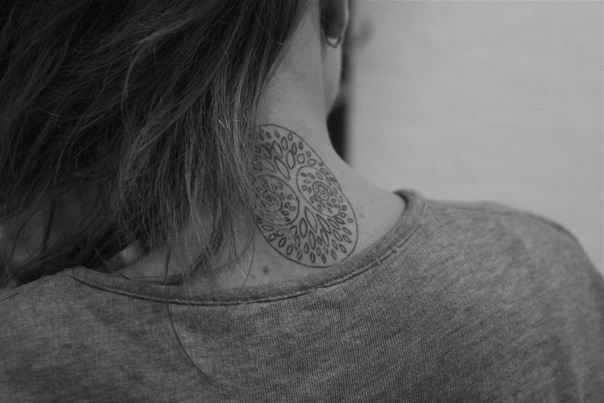 Tree Of Life Tattoo On Neck