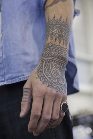 Beautiful Black Pattern Ink On Arm