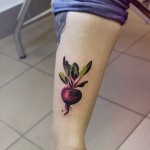 Beet Tattoo By Sasha Unisex