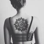 Big Black Mandala Tattoo On Back
