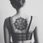 Big Black Mandala Tattoo On Back