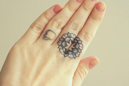 26dbe0c011b1f Cute Mandala Tattoo On Fingers | Best tattoo design ideas