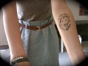 Lion Tat On Arm
