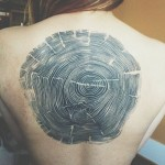 Tree Rings Back Tattoo