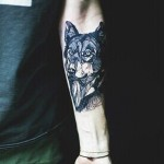 Awesome Wolf Tattoo On Hand