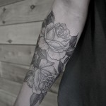 Black Roses Tattoo On Arm