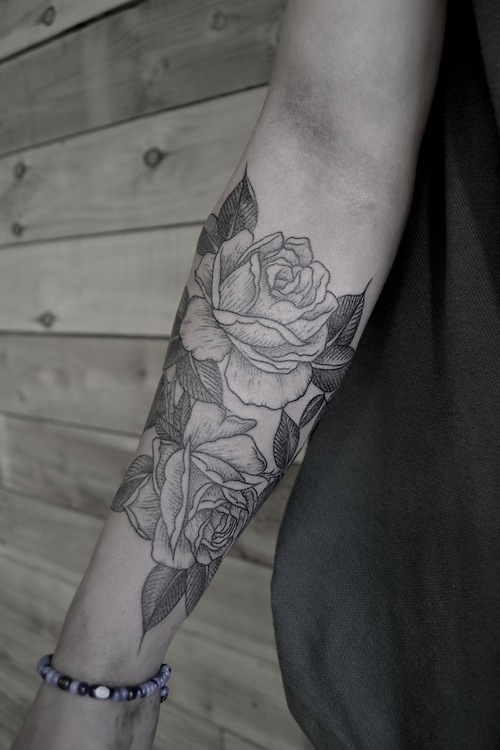Black Roses Tattoo On Arm