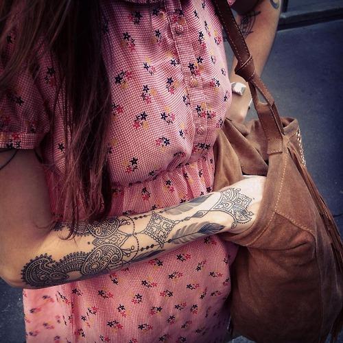 Henna Patterns Tattoo On Arm