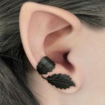 Leaves Ear Tattoo