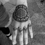 Sacred Geometry Tattoo On Hand