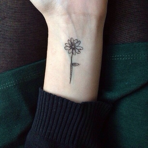 Small Flower Tattoo On Wrist