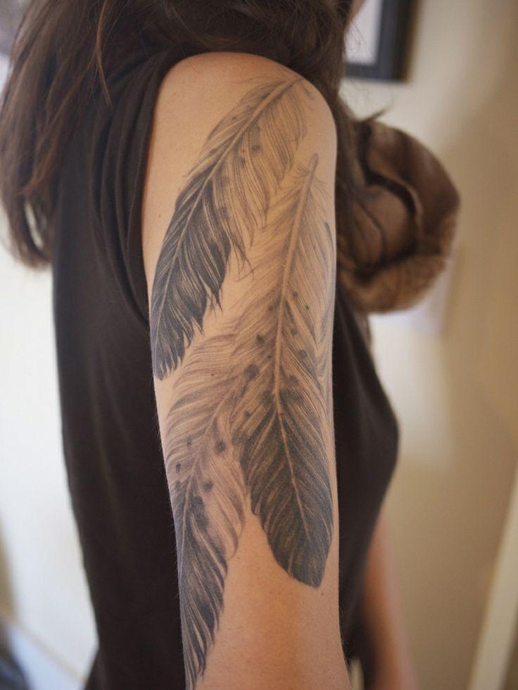 Feathers Sleeve Tattoo