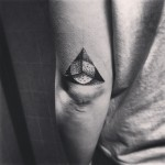 Hipster Triangle Tattoo
