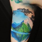 Lake And Mountain Tattoo