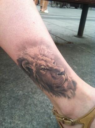 Lion Leg Tattoo