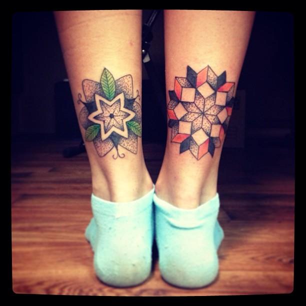 Mandala Leg Tattoos By Martynas Snioka Best Tattoo Design Ideas