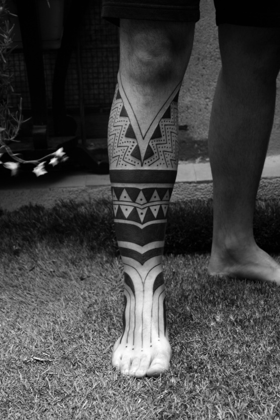 8e58520d5 Maori Half Leg Tattoo | Best tattoo design ideas