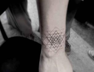 Minimal Geometric Tattoo On Arm