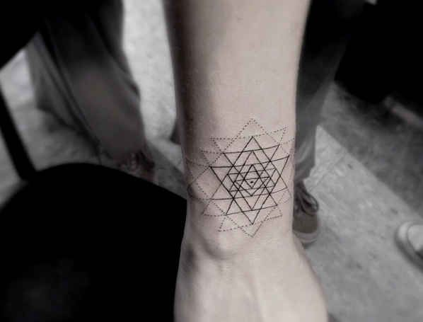 Minimal Geometric Tattoo On Arm